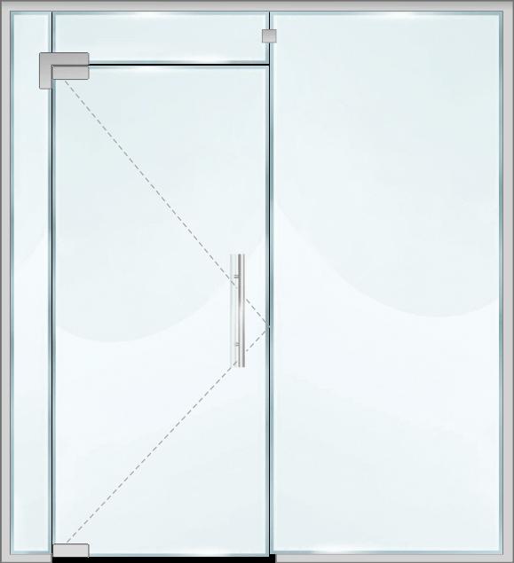 Стъклена витрина DM10